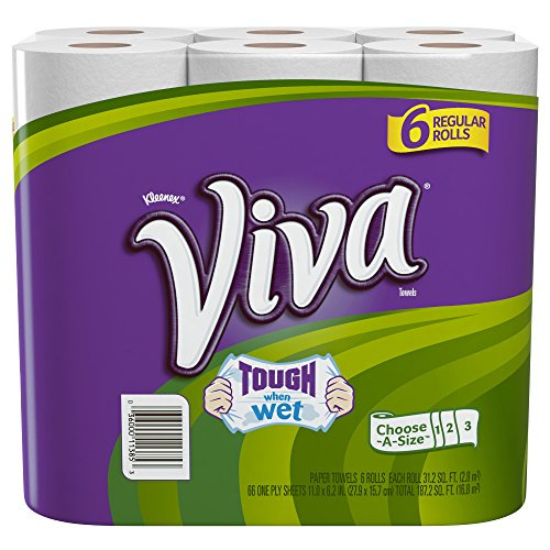 Price comparison product image Viva Paper Towels,  Choose-A-Size,  Regular Roll,  6 Count