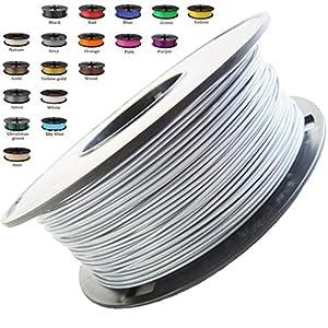 Melca 1.75 3D Printer Filament PLA 1kg +/- 0.03mm, Silver (#A5A5A5) by Melca