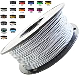 Melca 1.75 3D Printer Filament PLA 1kg +/- 0.03mm, Silver (#A5A5A5)