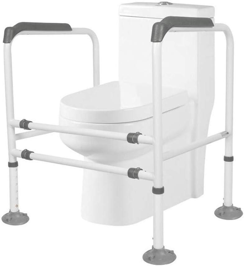HUYYA トイレの安全バー、調整可能 浴室用安全ラック トイレ安全ラック トイレグラブバー バスルームトイレ手すり高齢障害者および身体障害者のための,A