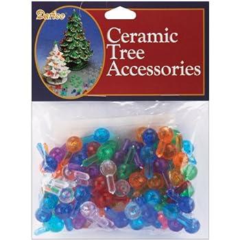 Light up Ceramic Christmas Tree  Small Twist lights assorted colors pkg 100