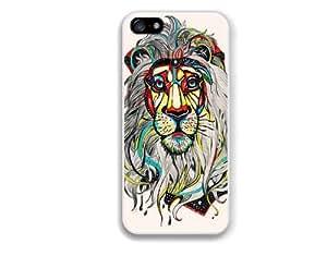 ROKE(TM) Colors Art Lion Animal Case Case For Ipod Touch 5 Cover Case Multicolor Case For Ipod Touch 5 Cover Case White Soft Hard