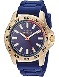 Invicta Mens Pro Diver Quartz Stainless Steel and Silicone Casual Watch, Color:Blue (Model: 21942)