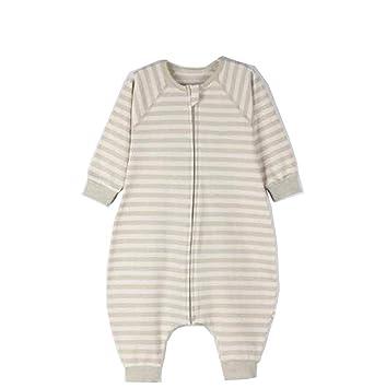 CWLLWC Saco de Dormir para bebé,Primavera y otoño algodón Fino Pierna Dividida Algodón Transpirable bebé niño Saco de Dormir Anti-Golpes Pijama estoque: ...
