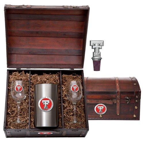 Texas Tech Red Raiders Team Logo Wine Gift Set