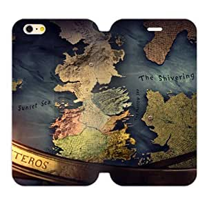 Futefew Mobile Phone Shell Game of Thrones Map of Westeros Pattern Cover Case Case Cover For HTC One M7