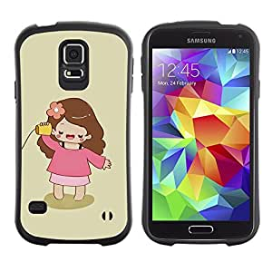Suave TPU GEL Carcasa Funda Silicona Blando Estuche Caso de protección (para) Samsung Galaxy S5 / CECELL Phone case / / Playing Mother Mommy Minimalist Girl /