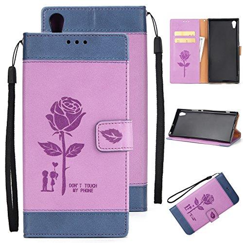 Olyee Sony XA1 UITRA Hülle, Leder PU Cover Magnet Flip Hülle Schutzhülle Kartensteckplätzen und Ständer Handytasche für handyhülle Sony XA1 UITRA White