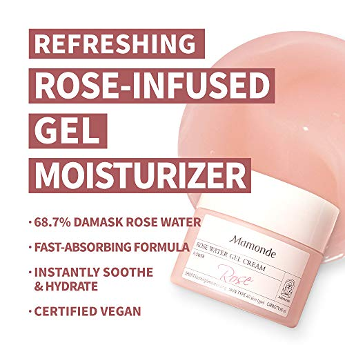 Mamonde Rose Water Gel Cream Facial Moisturizer Treatment, 2.71 Fl Oz