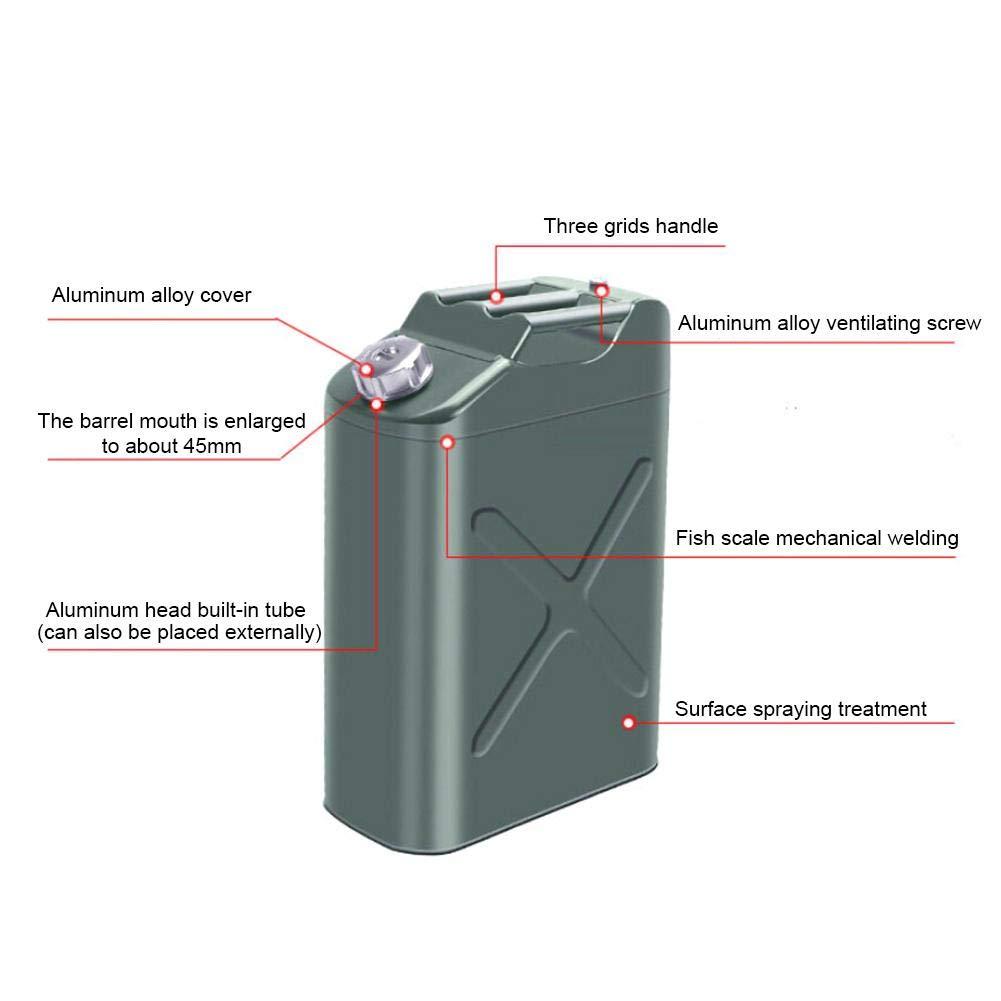 Jerry Can evergreemi R/éservoirs de Carburant Portables 10L r/éservoir de Stockage de Carburant /épaissi avec Filtre Amovible et poign/ée pour Essence Diesel