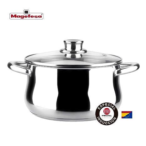 MAGEFESA Ideal – Olla MAGEFESA Ideal está Fabricada en Acero Inoxidable 18/10, Compatible con Todo Tipo de Fuego. Fácil Limpieza y Apta lavavajillas. ...