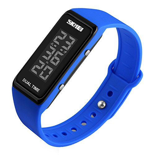 Sport Digital Wrist Watch 30M Waterproof for Kids Boys Girls Men Women Silicone Watch (Lady Military Watches)