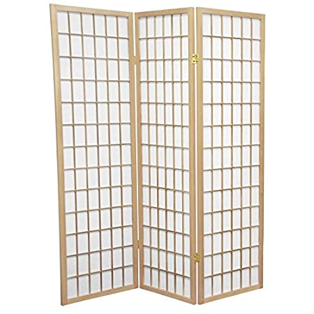 ORIENTAL FURNITURE Dressing Privacy Screen Short Size 5 Feet Window