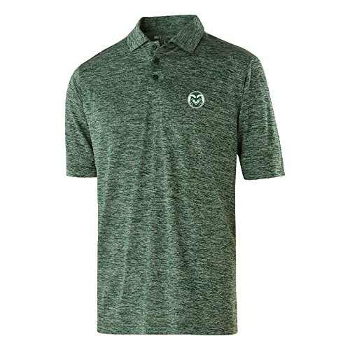 NCAA Colorado State Rams Men's Electrify 2.0 Polo, Large, Forest (Rams Performance Team Polo)
