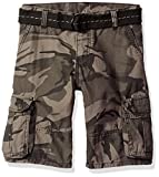 Wrangler Big Boys' Authentics Fashion Cargo Short, Anthracite Camo, 14