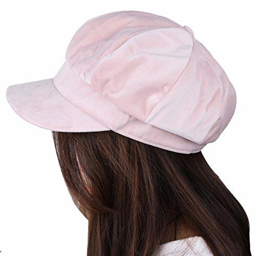 cecf82c38 Samtree Newsboy Hats for Women,8 Panel Winter Warm Ivy Gatsby Cabbie  Cap(05-Pink)