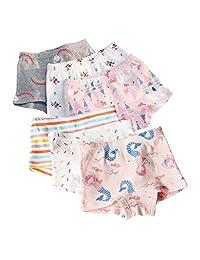 XNN Soft Cotton Baby Toddler Underwear Little Girls' Assorted Boxer Briefs(Pack of 6)