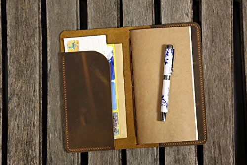 - Personalized leather midori travelers notebook / midori style leather journal / Midori traveler's notebook cover FREE 3 inserts!! -MD005C