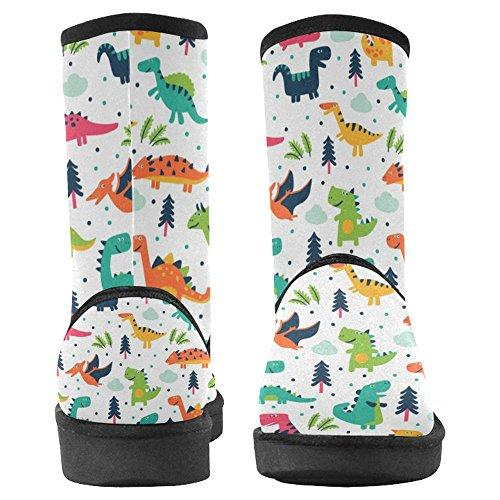 Snow Stivali Da Donna Di Interestprint Design Unico Comfort Invernale Stivali Dinosauro Dinosauro Dino Animal Multi 1