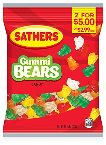Sathers Gummy Bears, 13.15 Ounce Bag, Pack of ()