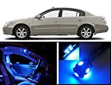 EliteTech 2002 - 2006 Nissan Altima Premium LED Package (Ultra Blue) - Interior + License Plate(White) + Vanity (12 pieces) 2002 2003 2004 2005 2006