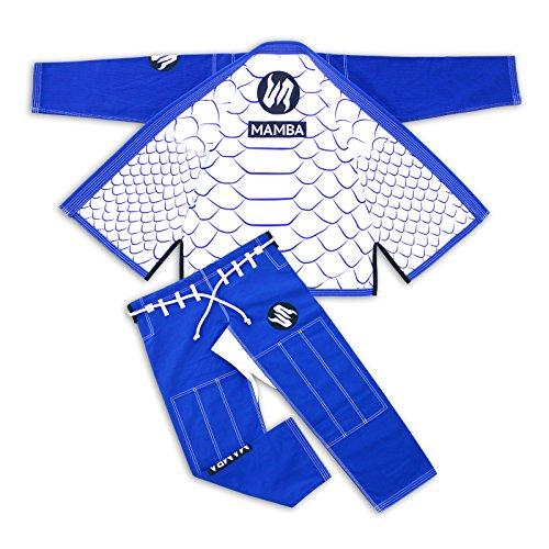 Mamba Martial Arts BJJ Brazilian Jiu Jitsu Fitted Gi 100% PRE SHRUNK Lightweight Ripstop Pearl Weave IBJJF APPROVED Uniform (A0)