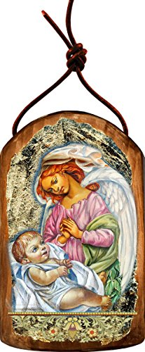 G. Debrekht Blessing Angels Icon Wooden Ornament
