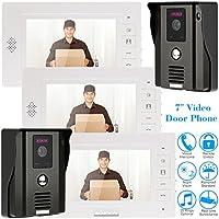 KKmoon 7 Video Door Phone Intercome Doorbell Remote Unlock Night Vision Rainproof Security CCTV Camera Home Surveillance TP01H-23