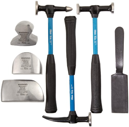 Martin 647KFG 7 Piece Body and Fender Repair Tool Set, Fiberglass Handles by Martin