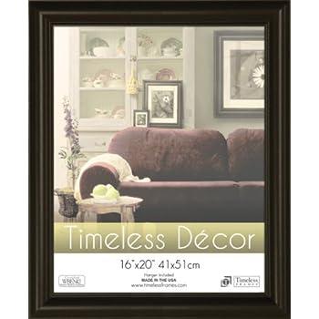 amazon com timeless frames 16x20 inch boca picture frame black