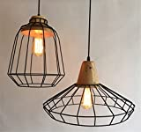 Scandinavian Creative Ladies' Chandelier Bar Bedroom Living Room Café Restaurant Light Industrial Light Retro Netted Lamp, 25x30cm
