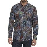 Robert Graham Men's Big Nova Long Sleeve Classic Fit Woven Shirt, Multi, Medium