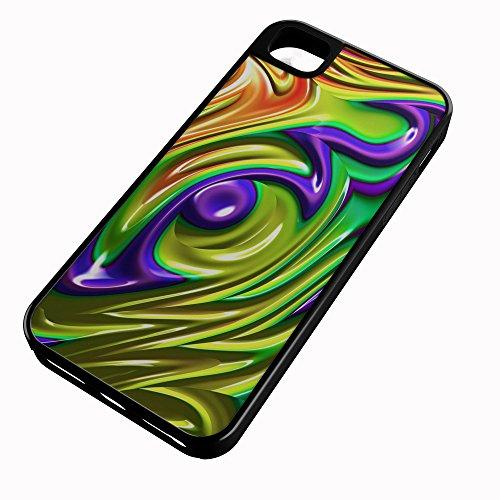 iPhone Case Fits iPhone 8 PLUS 8+ Hybrid Tough Case Fractal Mandelbrot Art Wallpaper Desktop Black Plastic Black Rubber