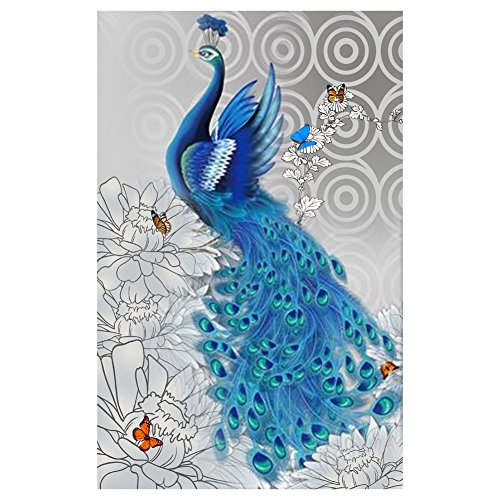 Blue Peacock 5D Diamond DIY Painting Craft Home Decor left