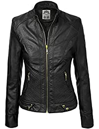 Amazon.com: Made By Johnny - Leather & Faux Leather / Coats ...