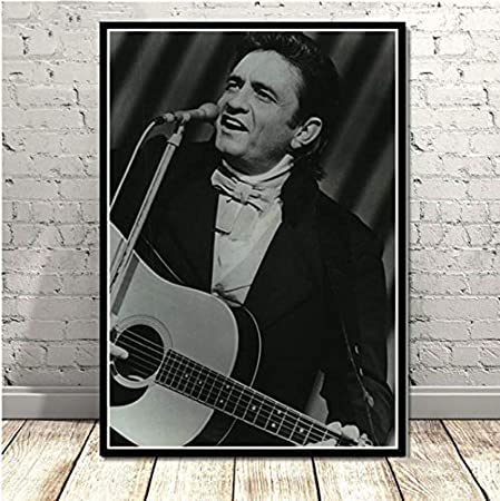 yhnjikl Johnny Cash Rock Music Band Star Vintage Poster and ...