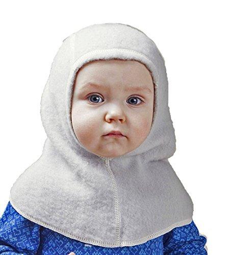 (LANACARE Merino Wool Baby Balaclava in Soft Grey, size 86 (1-3 yr))