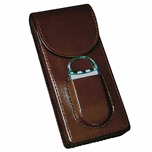 Prestige Import Group - 3 Cigar Magnetic Case w/ Cutter - Color (Pocket Cigar Case)