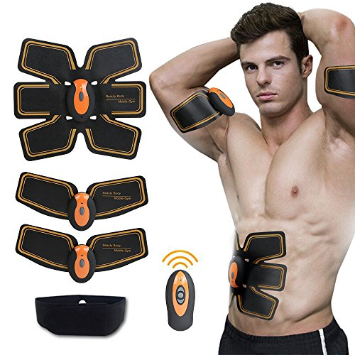 SHENGMI Abdominal Toning Belt, Waist Trimmer Belt,ABS Toner Body Muscle Trainer, Abs Fit Training, Ab Belt Toning Gym Workout Machine,Unisex Fitness Training Gear