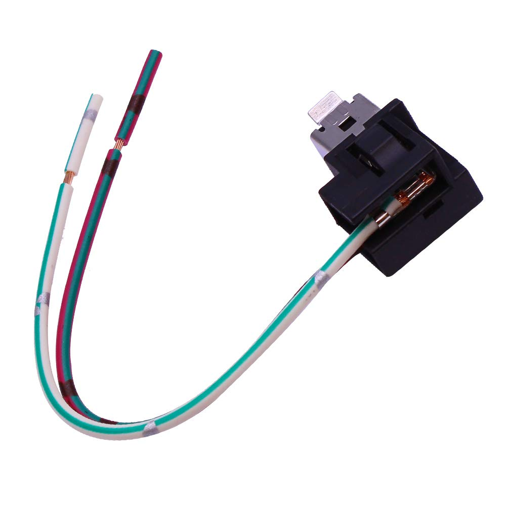 Pack of 2 HUIQIAODS H1 H3 Headlight Fog Light Bulb Extension Socket Wire Harness Connector Holder