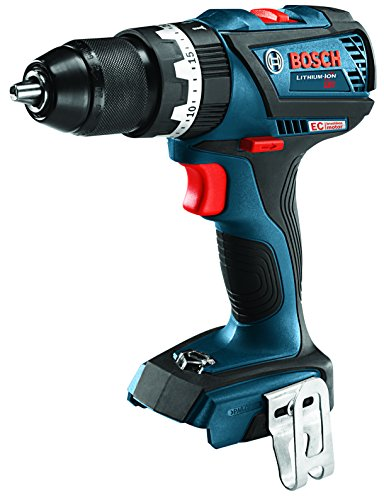 Bosch Cordless Hammer Drill (Bosch HDS183B 18V EC Brushless COMPACT Tough 1/2 In. Hammer Drill/Driver,, Blue)