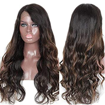 Zana Wigs Brazilian Virgin Remy Human Hair Wavy Lace Front Human Hair Wigs  for African Americans 42bc51655