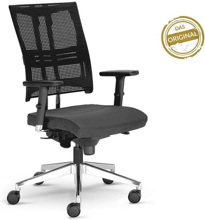 Vainqueur du test Stiftung Warentest Chaise de bureau Net Chaise Anthracite Motion avec accoudoirs 3D