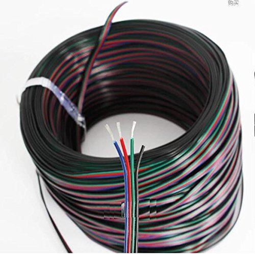 Price comparison product image Quickbuying 5M 4-Pin RGB LED Extension Wire Connector Cable Cord for 3528 5050 RGB Strip