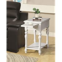 ACME Alina White Side Table