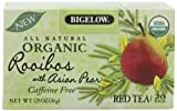 Bigelow Organic Rooibos with Asian Pear Tea, 128-Ounce Boxes (Pack of 6), 120 Tea Bags Total