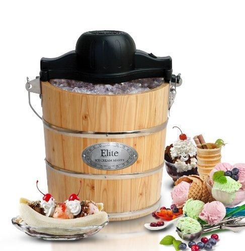 Old Fashioned Hand Crank Ice Cream Maker - 6