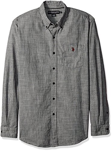 us-polo-assn-mens-long-sleeve-classic-fit-hounds-tooth-button-down-woven-shirt