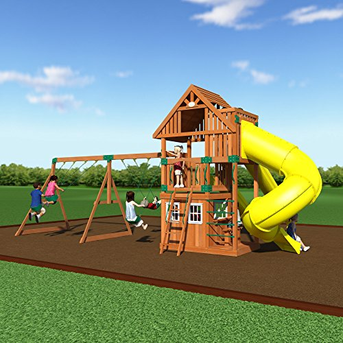 Superieur Amazon.com: Backyard Discovery Traverse All Cedar Wooden Swing Set: Toys U0026  Games
