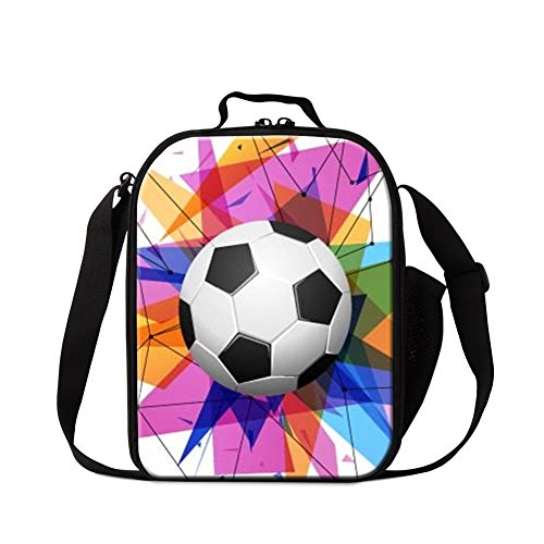 Generic Soccer Lunch Bag for Boys Kids Mini Cooler Bag Cool Insulated Lunch Box for Children
